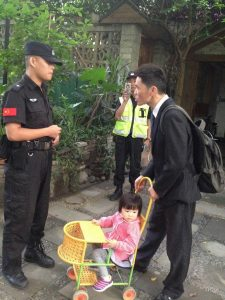 believers who were about to leave the house intercepted and threatened by the police