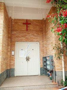 Door of a Korean House Church sealed from police