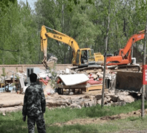 Protestant church demolished