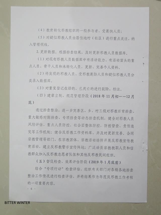 "Notice Regarding the ""Launch of Investigation and Repression Program for the Problem of Xie Jiao"""