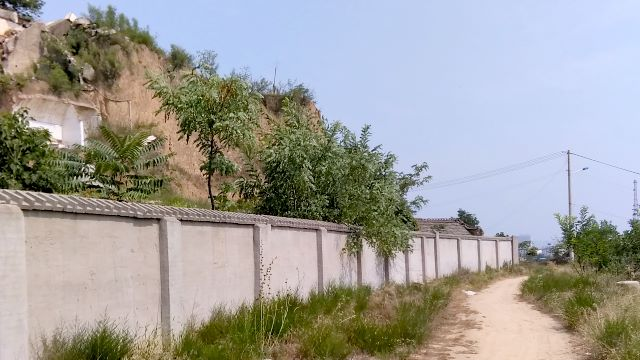 A two-meter-high wall