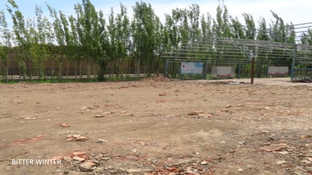 An empty lot where the mosque of the Experimental Team