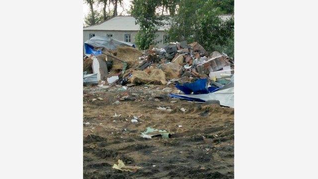 The demolished congregation site