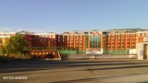 Exterior view of Wuzan Middle School, Nilka county, Yining city