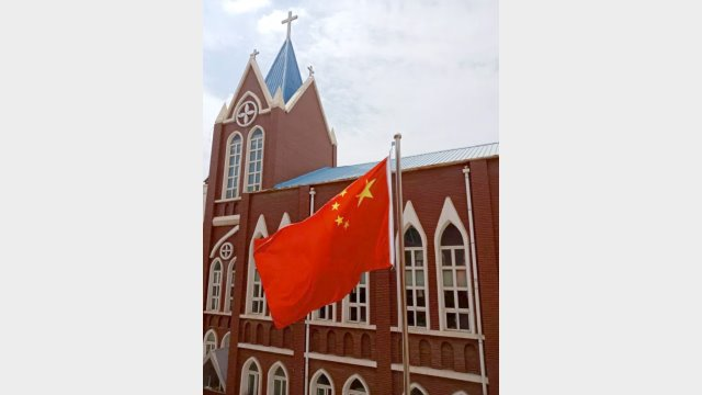 Chruch with flag