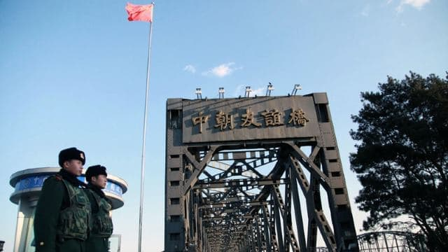 Dandong border inspection