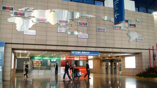 Pudong Airport gate