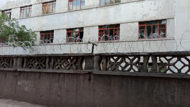 All of the school's surrounding fences and walls have been fitted with barbed wire. (Provided by an inside source.)