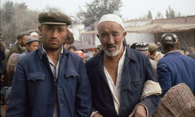 Two Men Uyghurs in Xinjiang