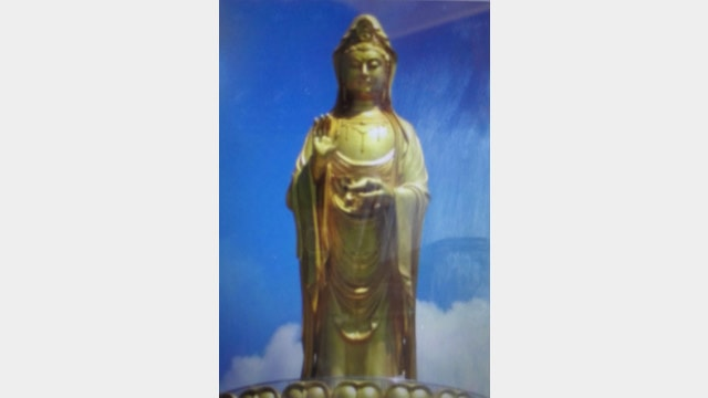 The original appearance of the Guanyin statue on Santai Mountain (provided by an inside source)