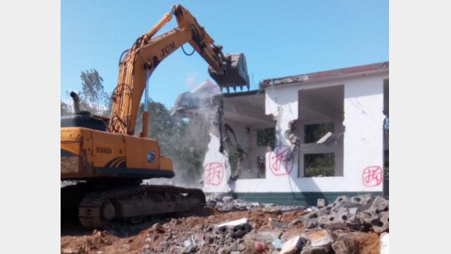 The demolished Caodian Three-Self Church.