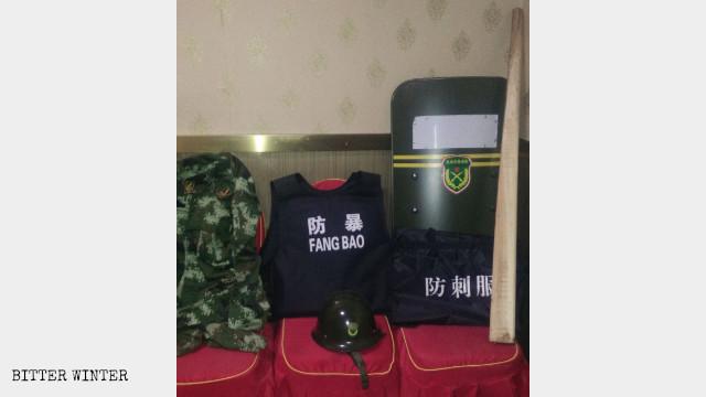 "Special attire used in ""anti-terrorism"" training"
