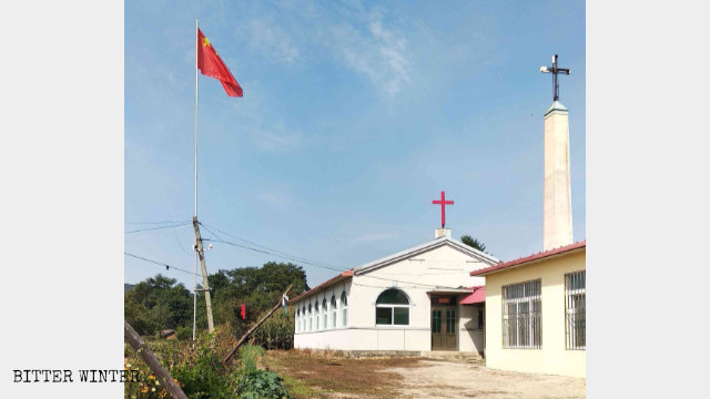 In late August, Qingyishan Church, in Dandong city's Kuandian Manchu Autonomous County, was forced to raise the national flag.