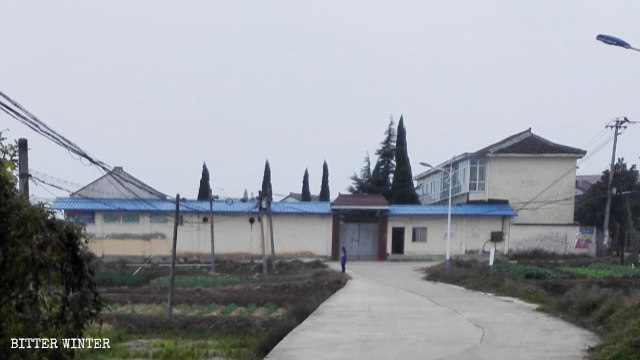 An abandoned elementary school in Zaoshu village in Shaanxi that has been turned into a legal education center.