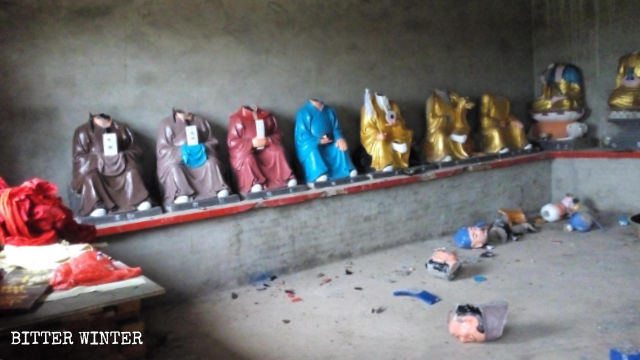 some local officials destroyed many Buddhist statues