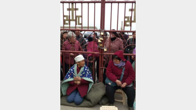 Church members locked the church's doors to keep the CPCA-appointed priest out.
