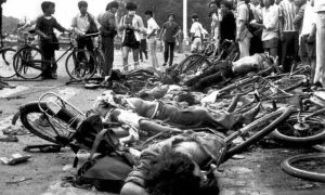 Bodies of civilians killed in Tiananmen Square, June 4, 1989