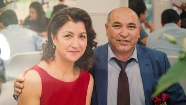 Gulbahar Haitiwaji and her husband Kerim