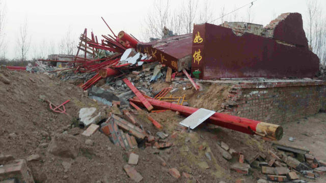 Puguang Temple has been turned into a pile of ruins