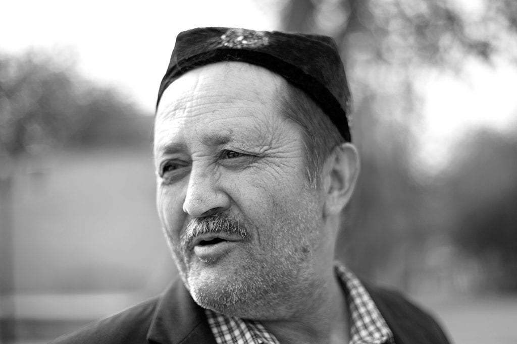 Uyghur men in the old city of Kashgar.