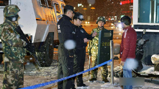 Xinjiang police are questioning the populace