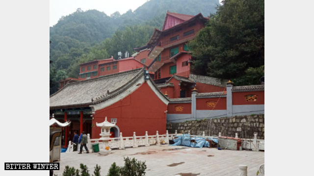 The original appearance of the Dragon King palace hall.