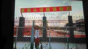 The kindergarten's perimeter wall