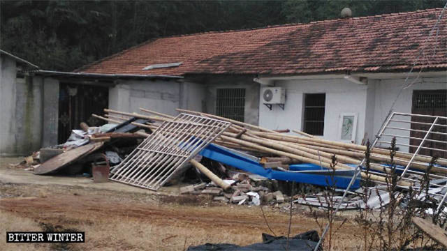 house built near a local believer's home was also demolished.