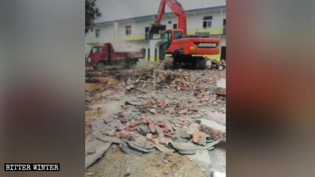 Baima Temple was razed to the ground.