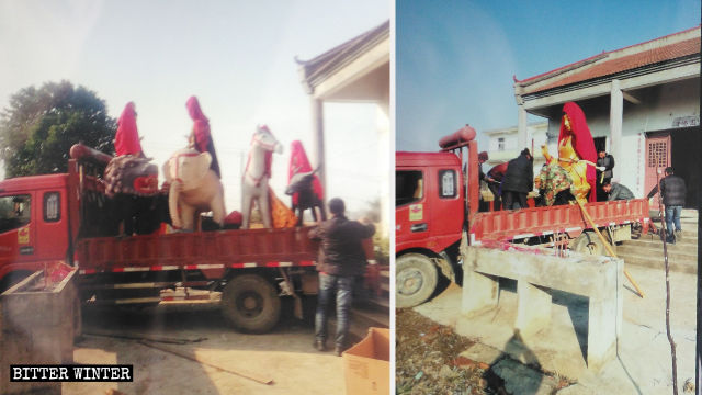 Buddhist statues in Baima Temple were removed.