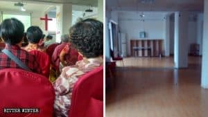 Mount Olive Three-Self Church before and after being shut down.