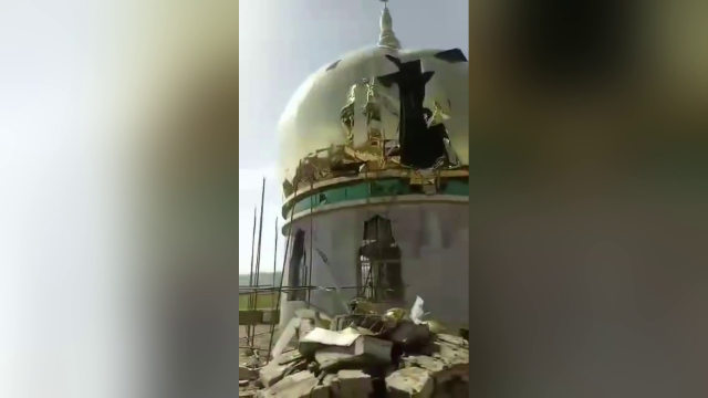 Demolition of mosque in Gazhuang village