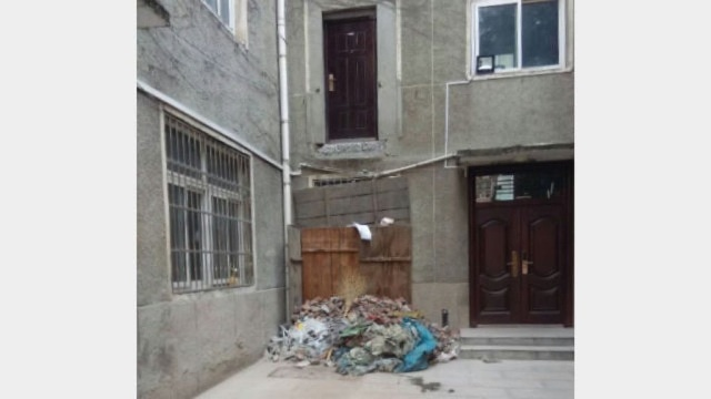 The staircase to Father Liu's room has been completely dismantled.