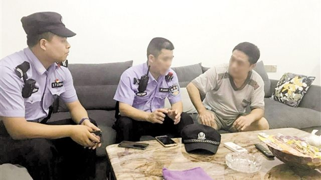 The police visited the residents homes