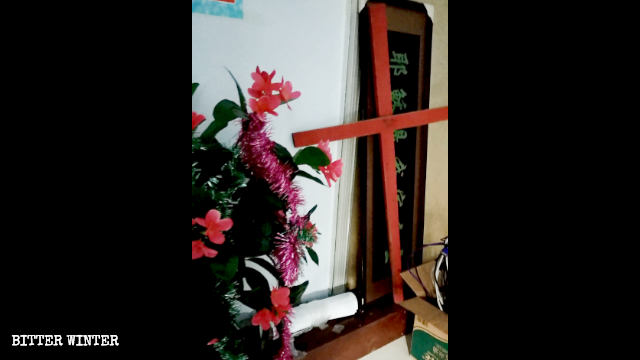 In March, a house church gathering venue in Binzhou city was closed, its cross taken down.