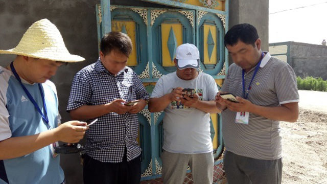 A working group stationed in a village in Xinjiang