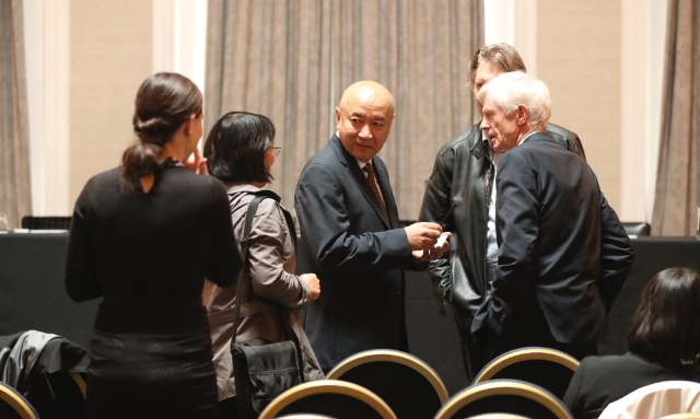 Dr Enver Tohti, giving interviews following the final judgement of the China Tribunal.