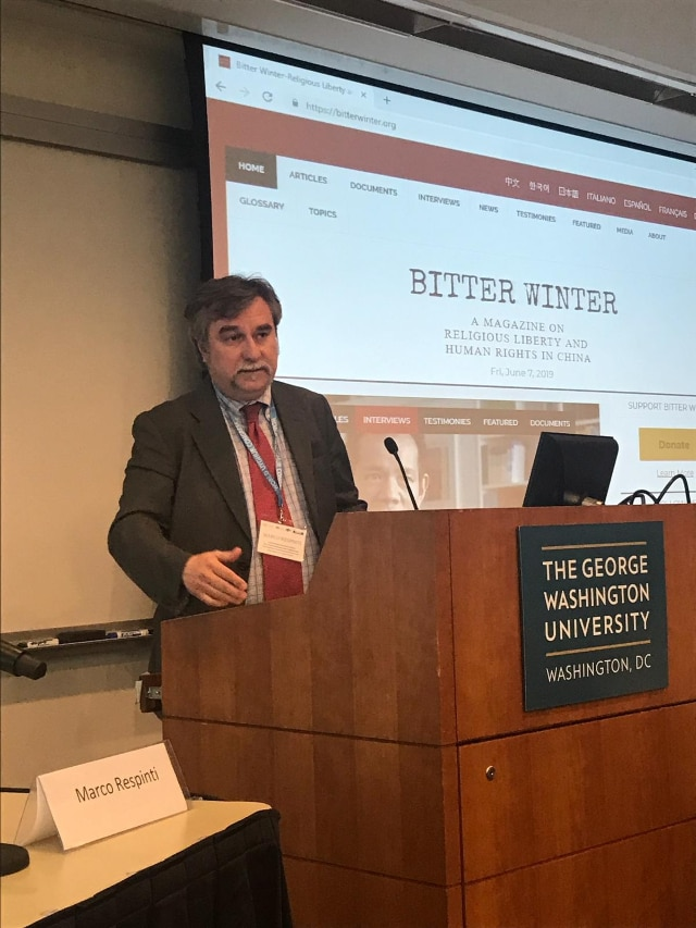 "Marco Respinti's speech at ""Confronting Atrocities in China: The Global Response to the Uyghur Crisis"""