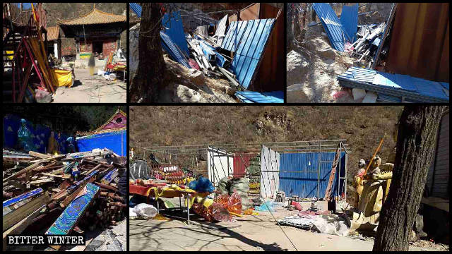 Most temples of Nainai Temple on Hou Mountain have been demolished.