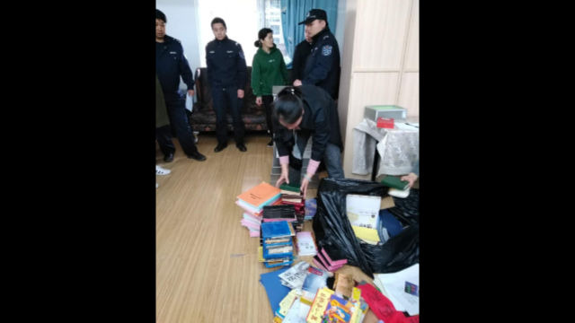The Bibles and other books were confiscated