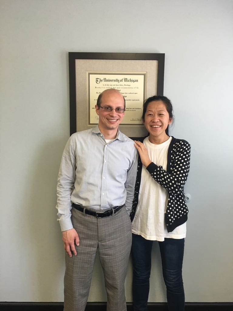 Sister Zou with her lawyer, Mr. Abrutyn