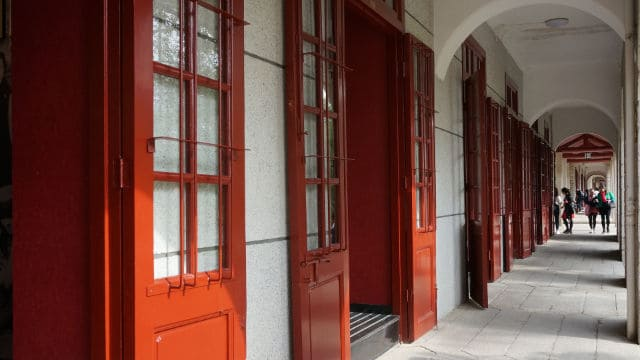 The corridor of a university in Xiamen city
