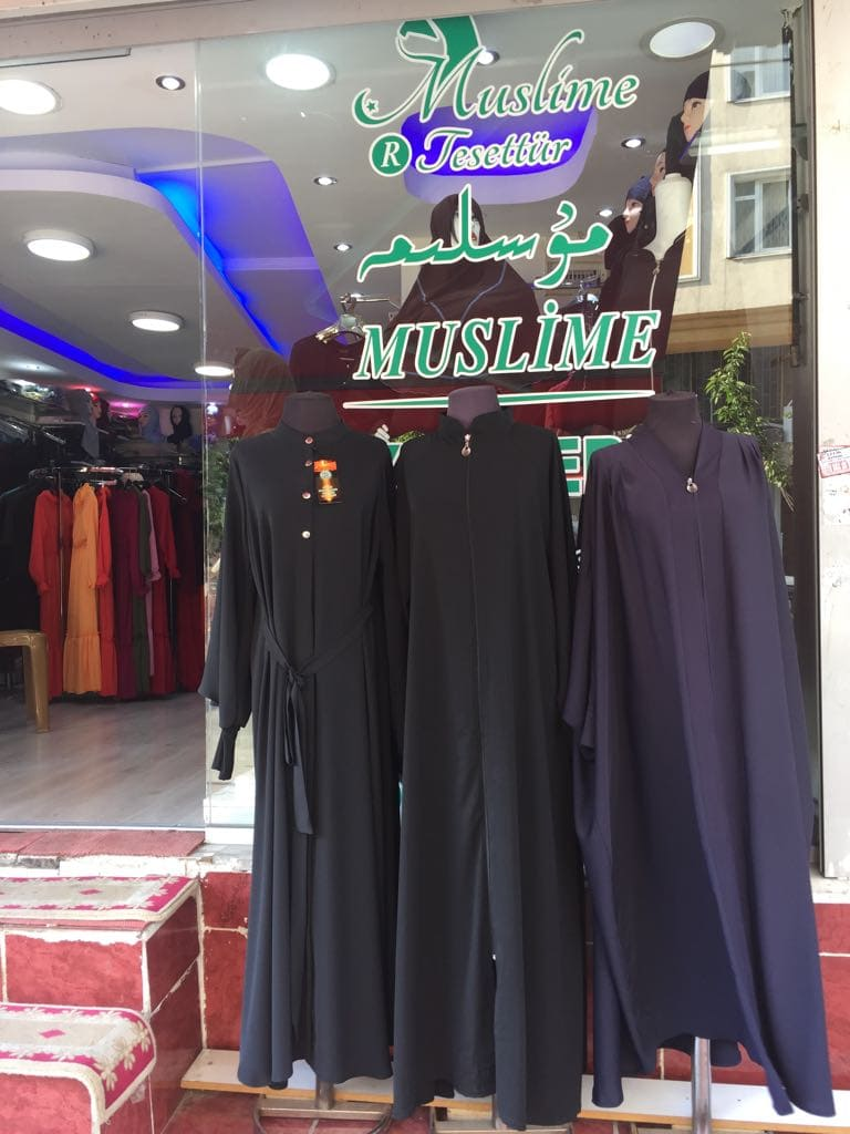 Clothes shop, selling clothing that is now banned