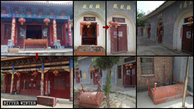 Fenghuangding Great Temple was shut down on May 13.
