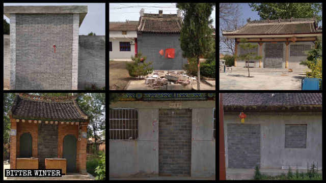 Six temples in Qinghua township have all been sealed off