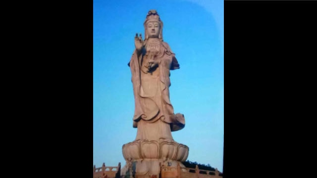 The original appearance of Guanyin statue at Mingshan Temple