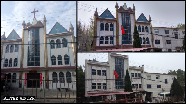 The style of the Three-Self church in Liuquan town has been transformed, making it more Chinese.
