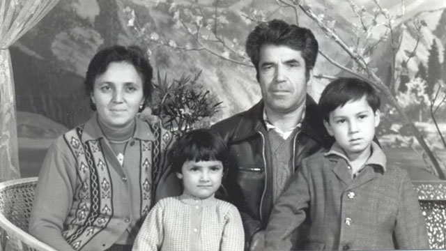 Chanisheff (left) and her husband, Latif and their two children